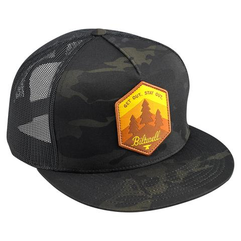 Get Out Snap Back - Black Camo